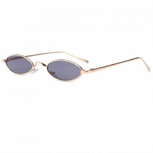 Овални очила с тъмно кафяви стъкла