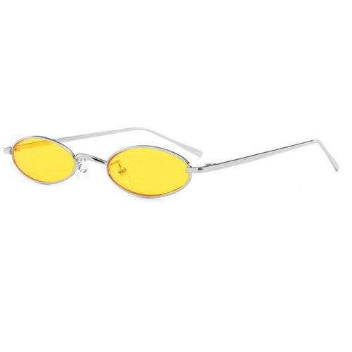 Овални очила с жълти стъкла