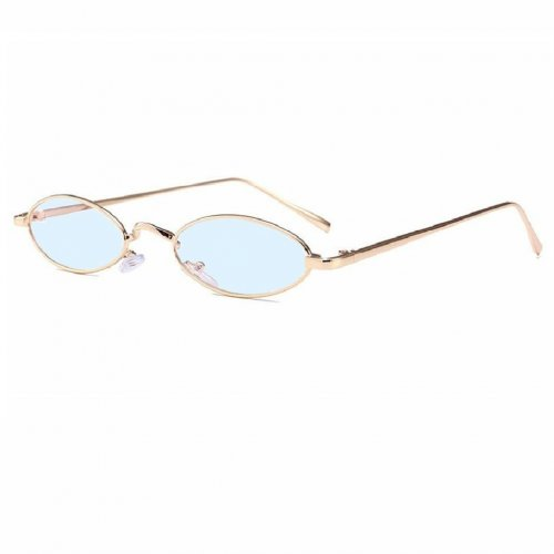 Овални очила със светло сини стъкла