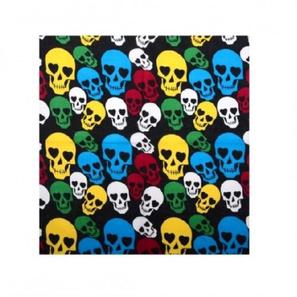 Памучна кърпа с цветни черепи