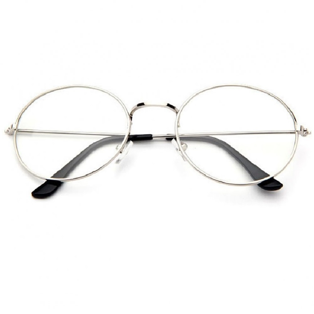 Прозрачен овал очила с бели рамки