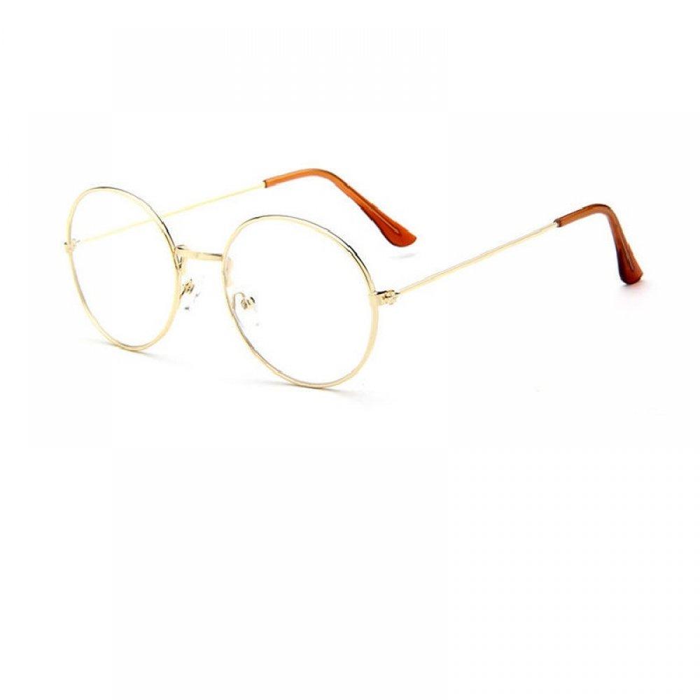 Прозрачен овал очила със златни рамки
