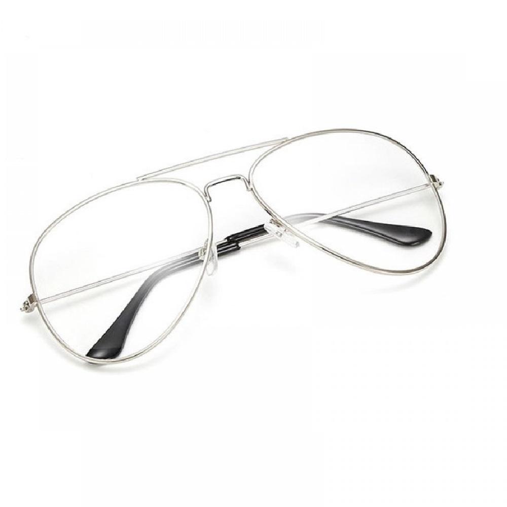 Прозрачни очила бъбрек с бели рамки