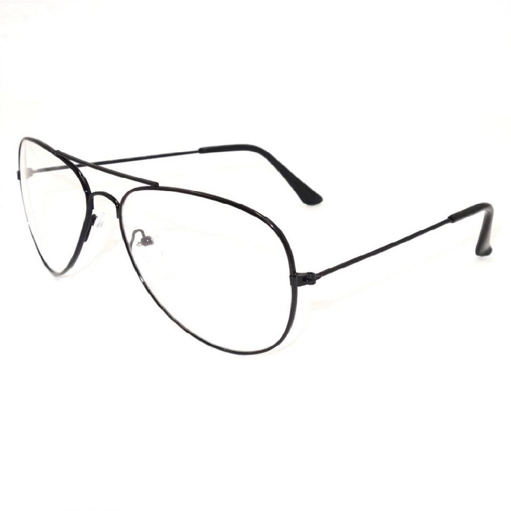 Прозрачни очила бъбрек с черни рамки