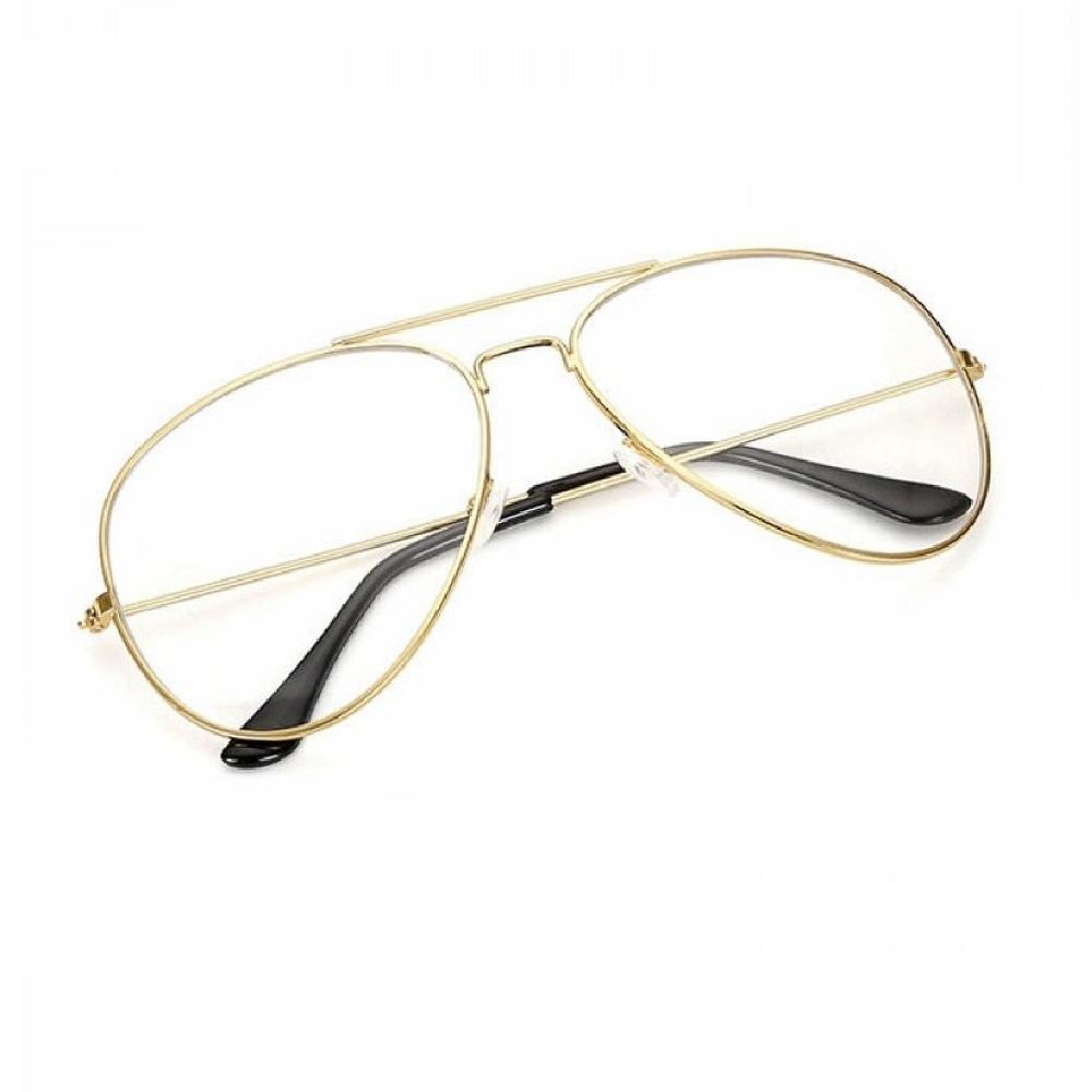 Прозрачни очила бъбрек с жълти рамки