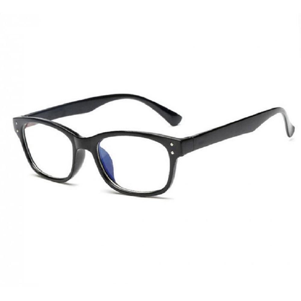 Прозрачни очила черни рамки с метални точки