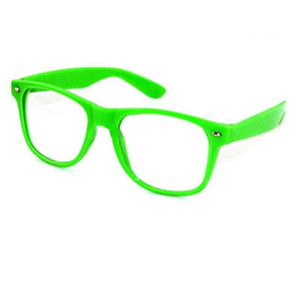 Прозрачни очила електиково зелени рамки
