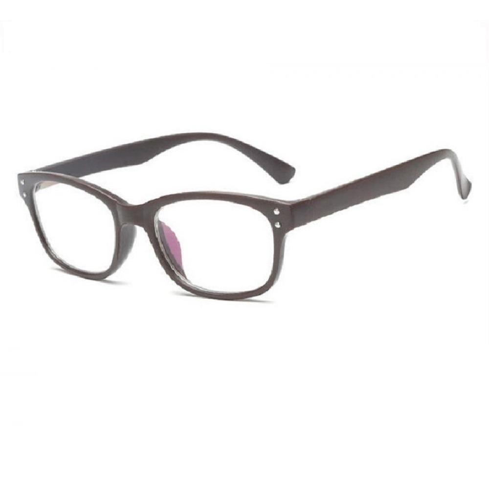 Прозрачни очила кафяви с метални точки