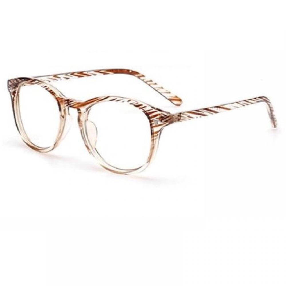 Прозрачни очила рамки на кафяви резки