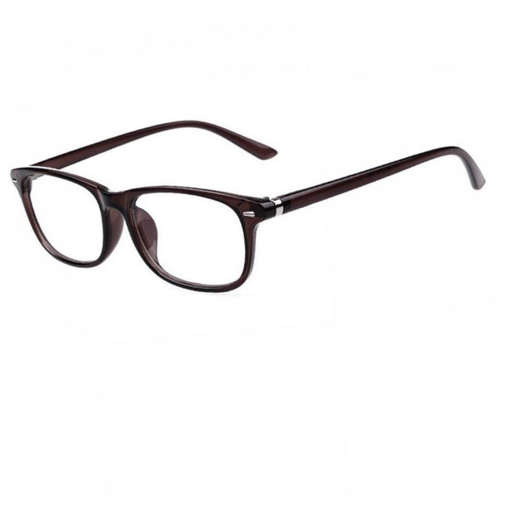Прозрачни очила с тънки рамки в кафяво