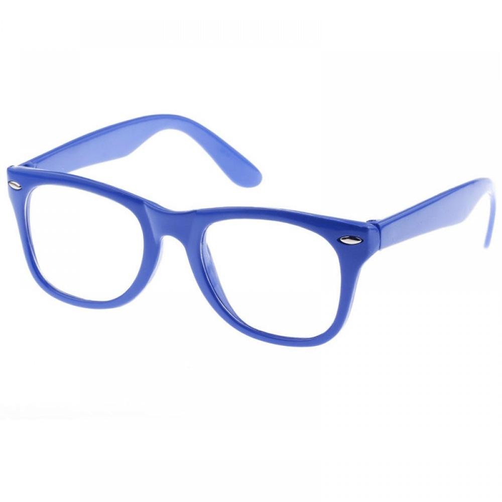 Прозрачни очила тъмно сини рамки