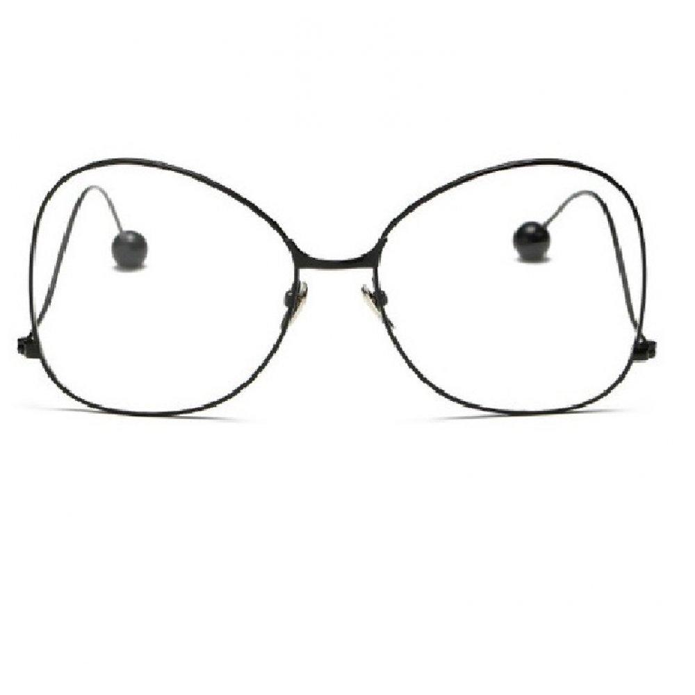 Прозрачни очила тип пеперуда с черни рамки