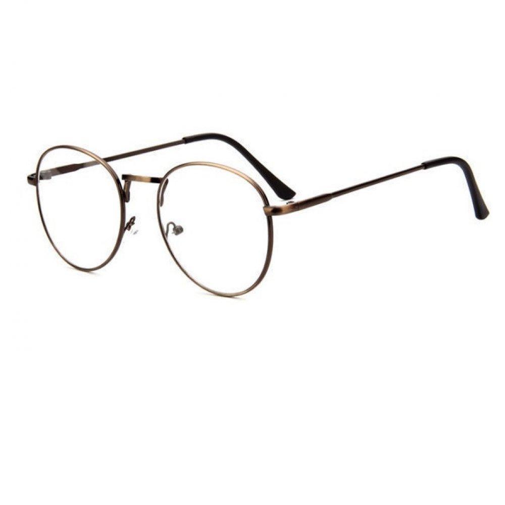 Прозрачни овални очила кафяви рамки