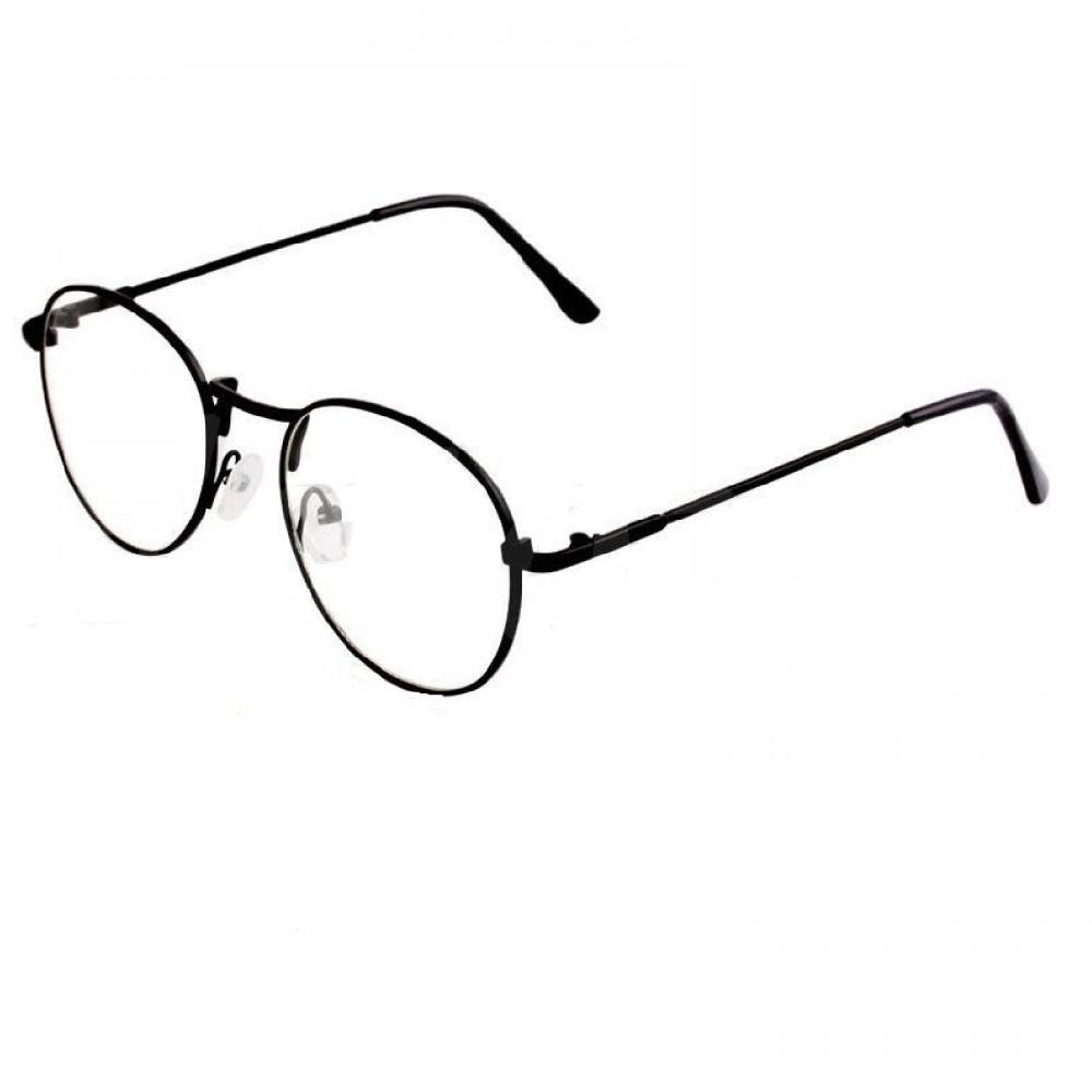 Прозрачни овални очила с черни рамки