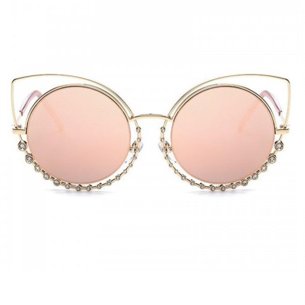 Розови котешки очи в кристални очила