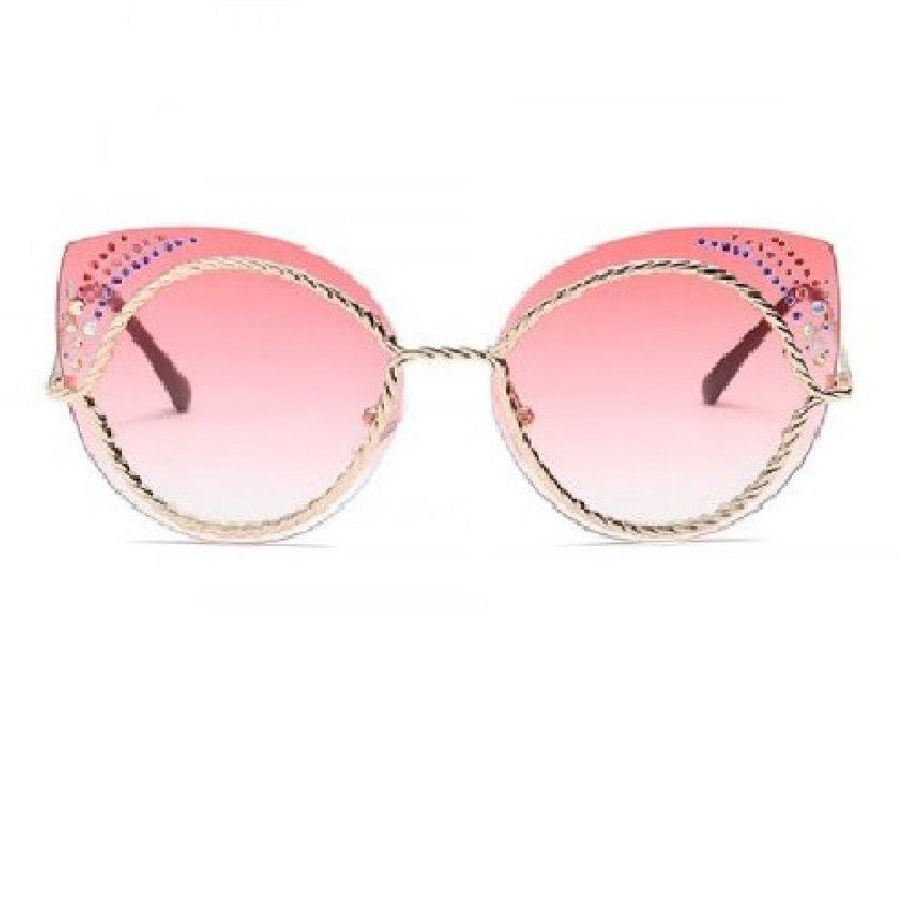 Розови котешки очила, стъкла с кристалчета