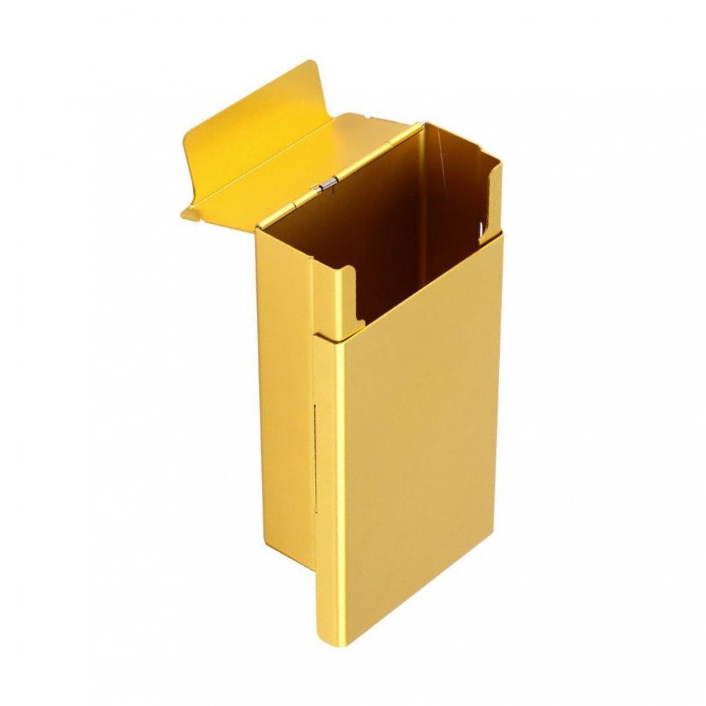 Сигнално жълта табакера за цигари