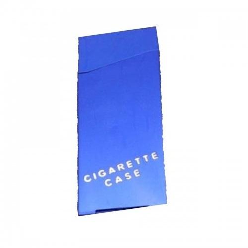 Синя табакера за тънки дълги цигари