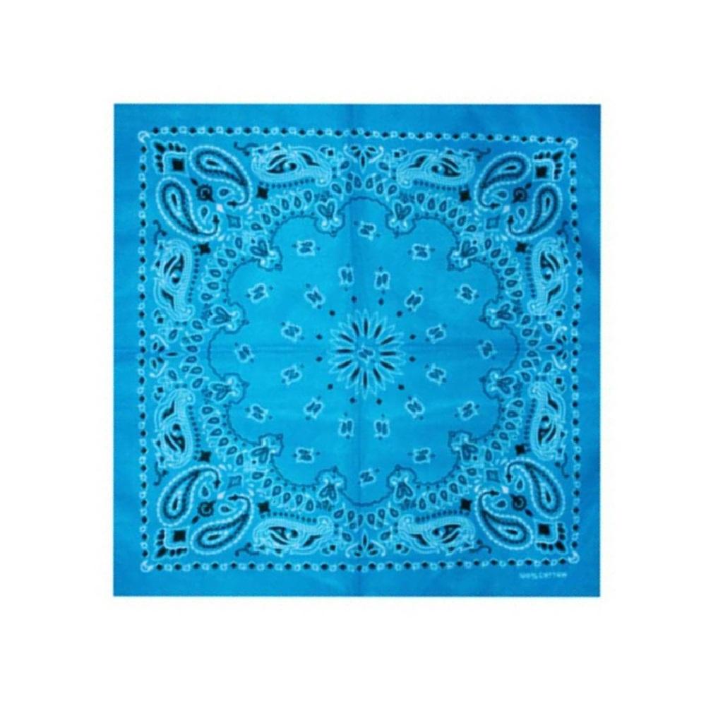 Синя кърпа за глава с орнаменти