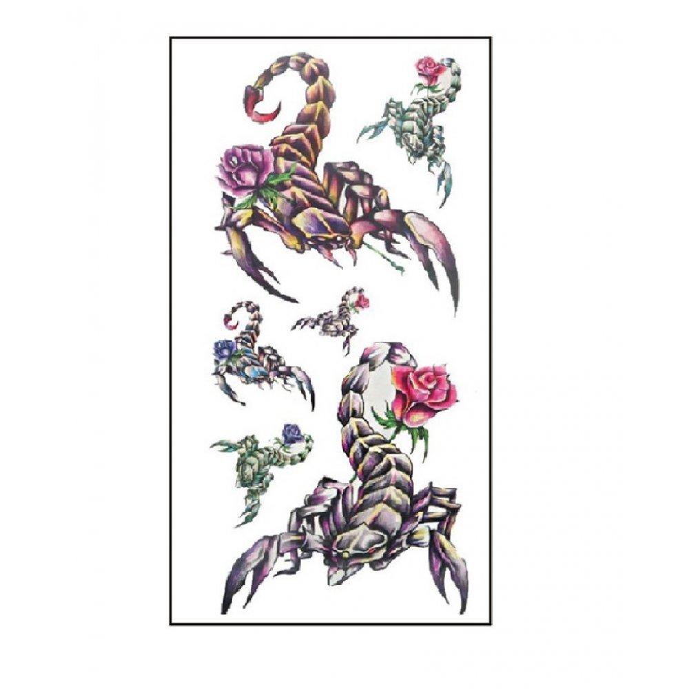 Скорпиони временна татуировка
