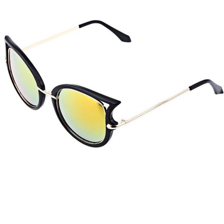 Слънчеви котешки очила жълто зелени стъкла