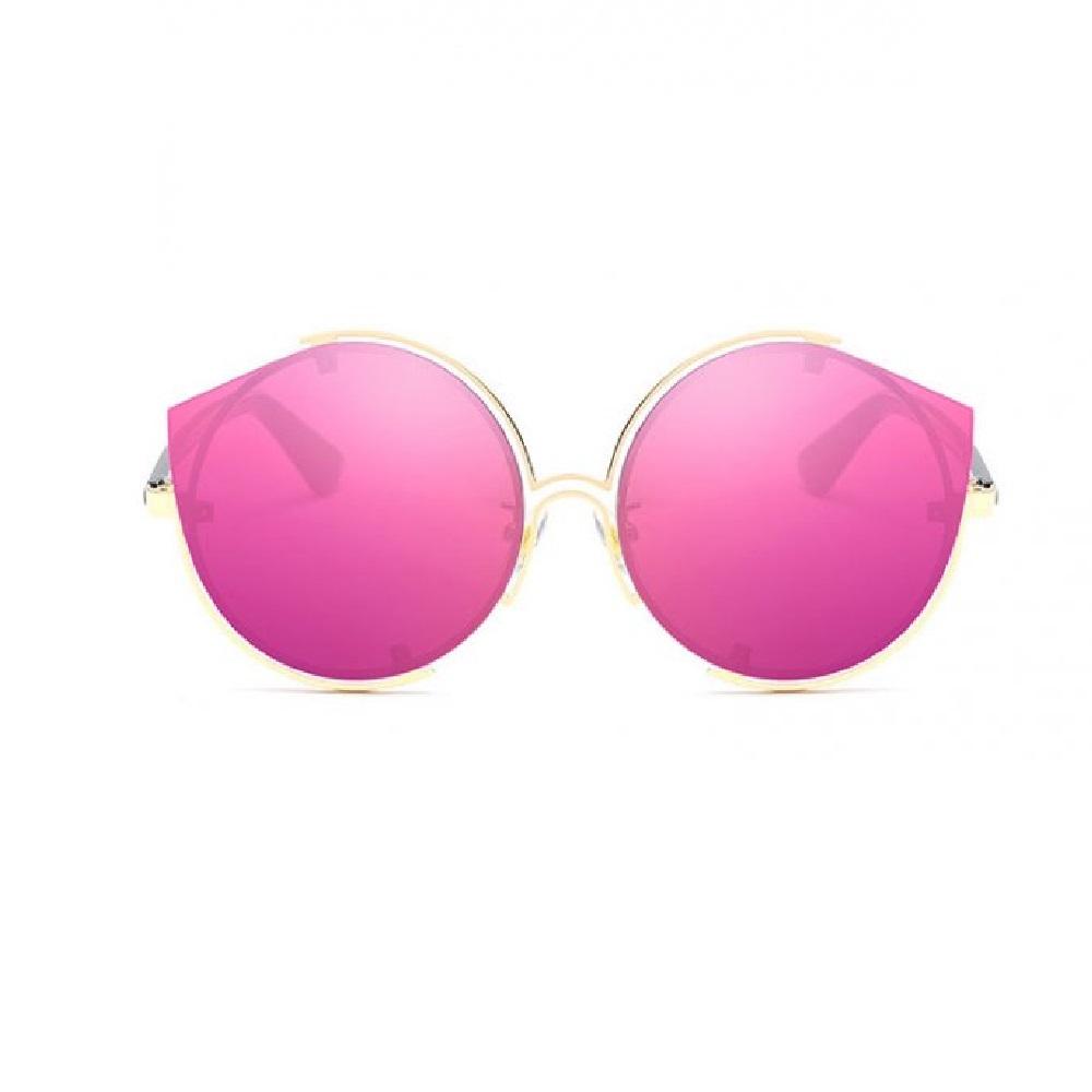 Слънчеви ярки розови котешки очила