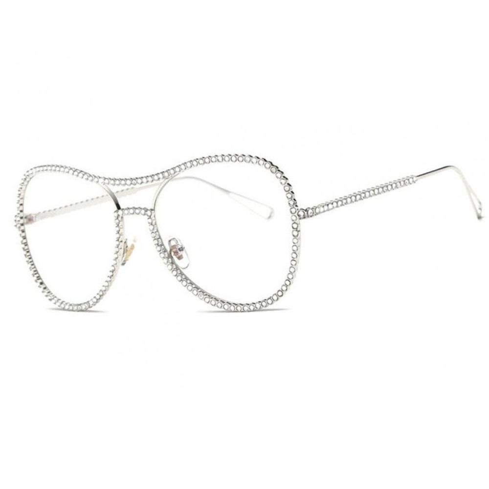 Сребърни очила с кристали