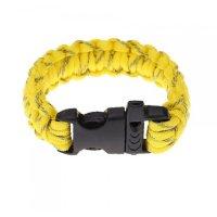 Свирка в  жълта гривна за оцеляване