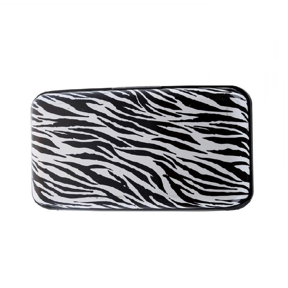 Твърдо портмоне за документи зебра