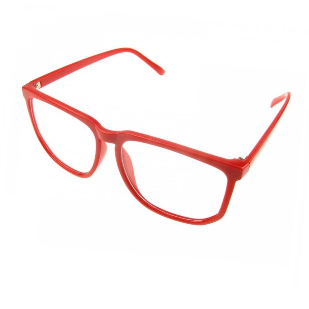 Унисекс червени очила с не чуплива рамка