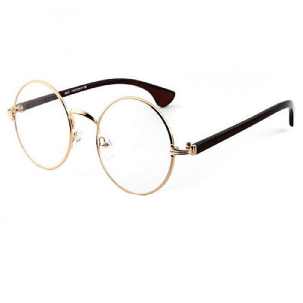 Универсални прозрачни кръгли очила черни рамки