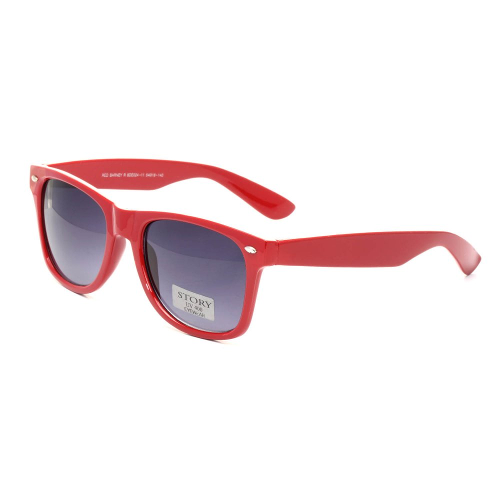 Универсални слънчеви очила с червени рамки
