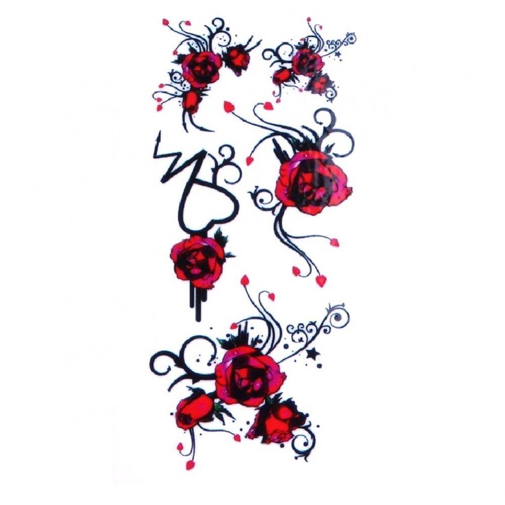 Временна татуировка червени цвета с трайбъл