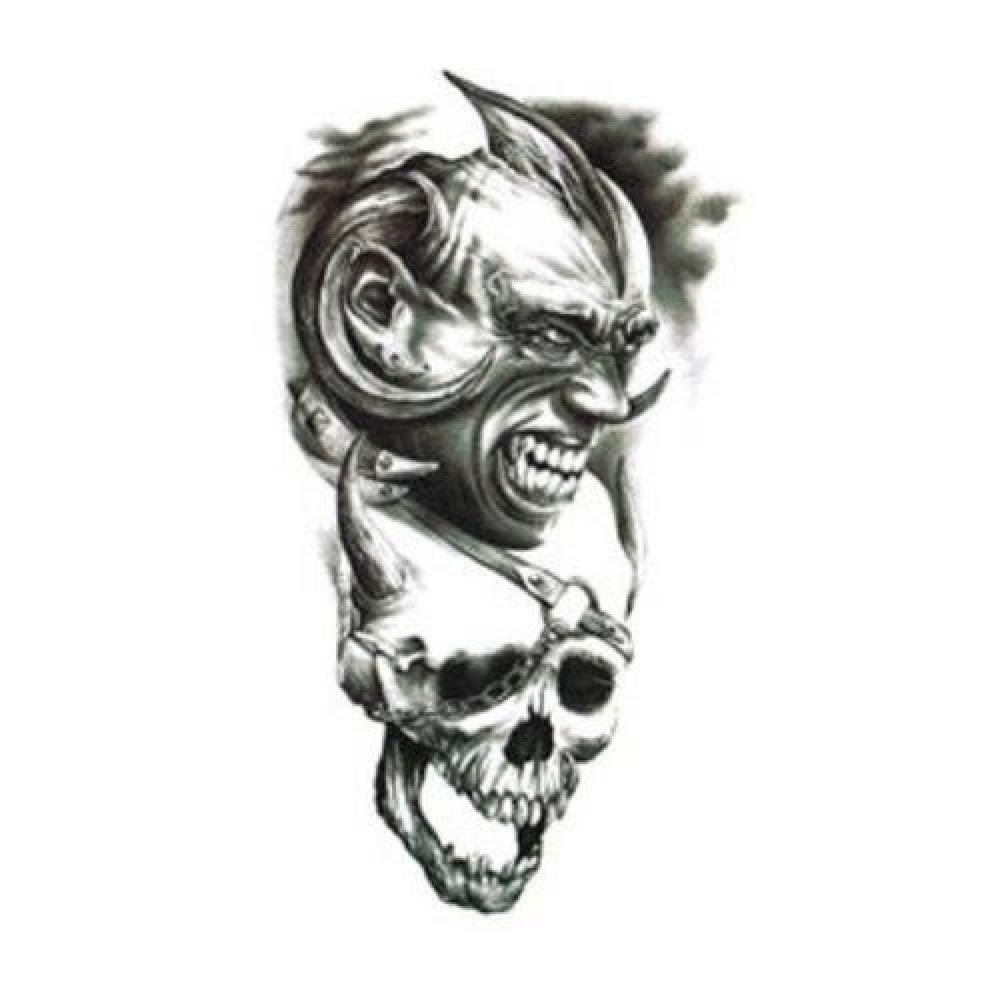 Временна татуировка, демон с череп
