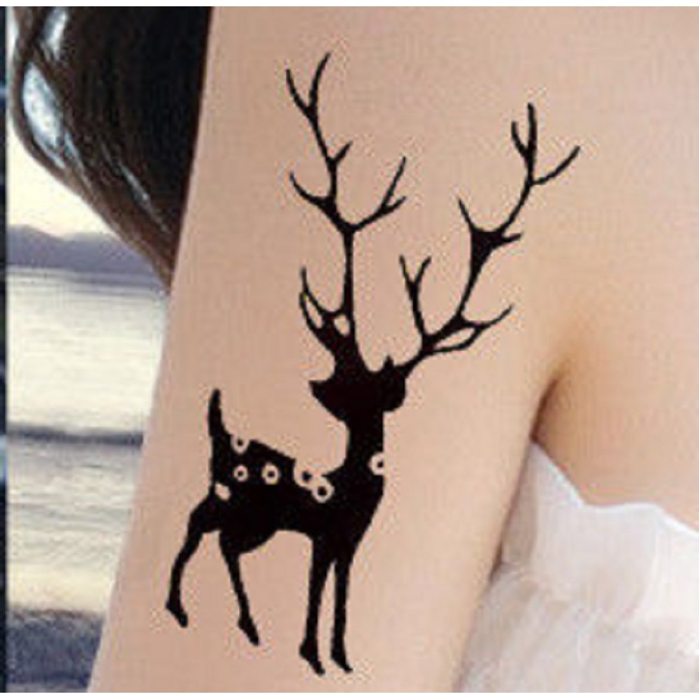 Временна татуировка елен
