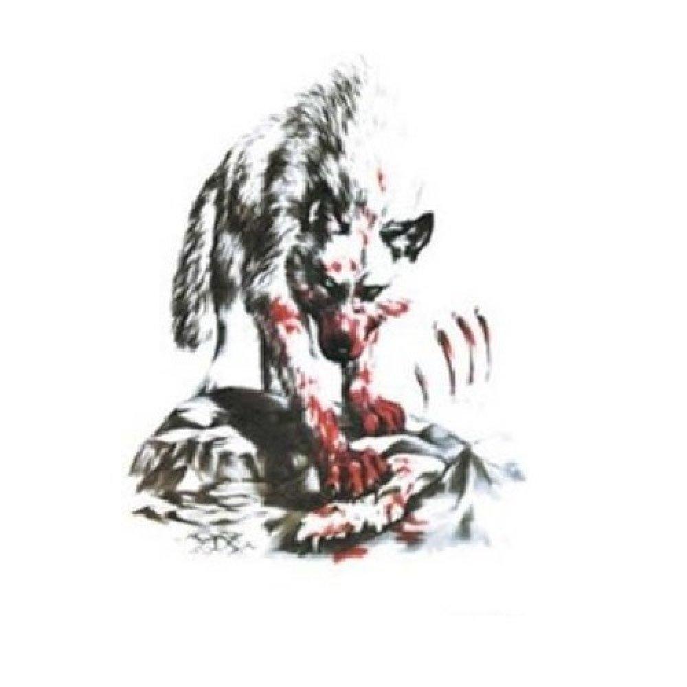 Временна татуировка, кървав вълк