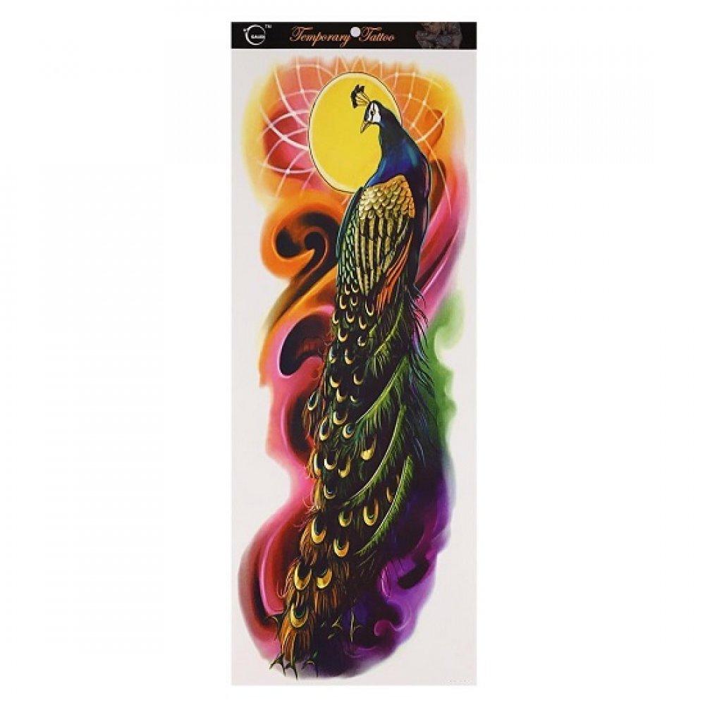 Временна татуировка паун 46 сантиметра