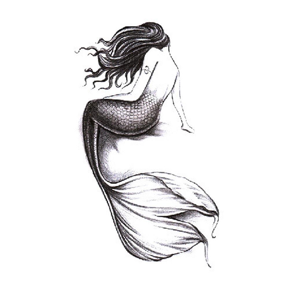 Временна татуировка русалка