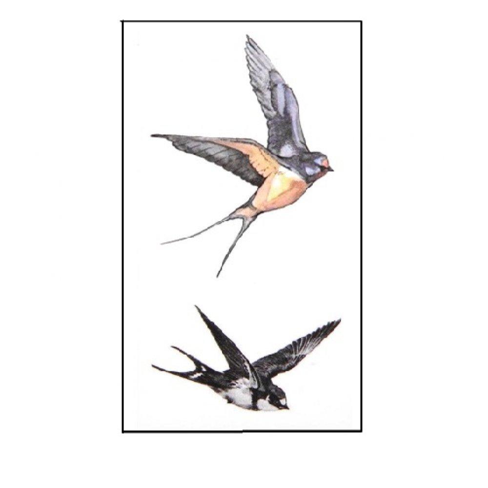 Временна татуировка с птици