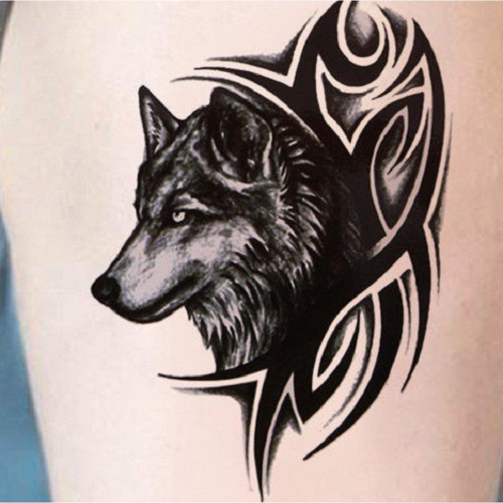 Временна татуировка с вълк