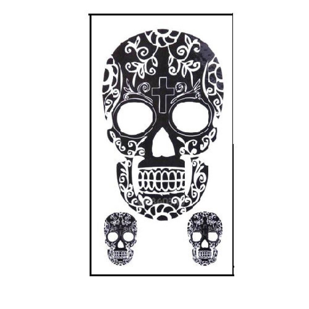 Временна татуировка, стилизиран череп