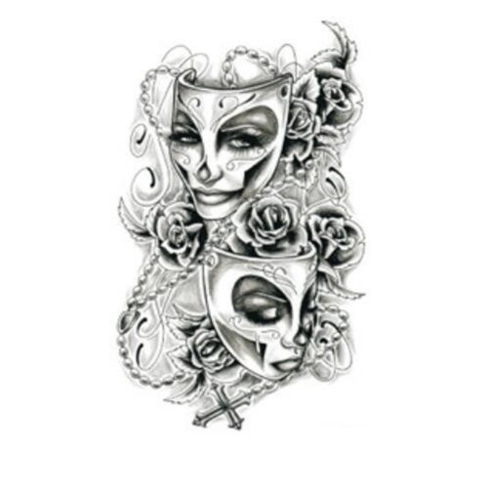 Временна татуировка, театрални маски