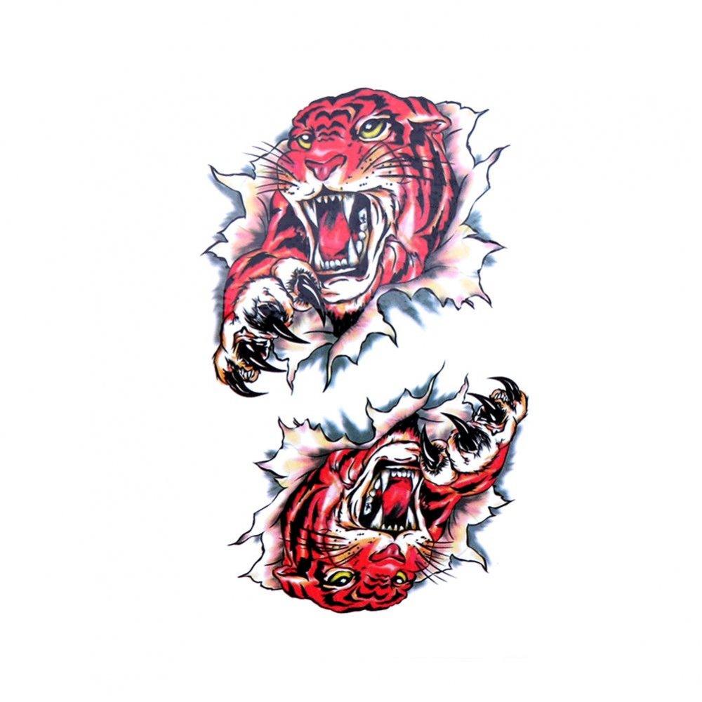 Временна татуировка тигър