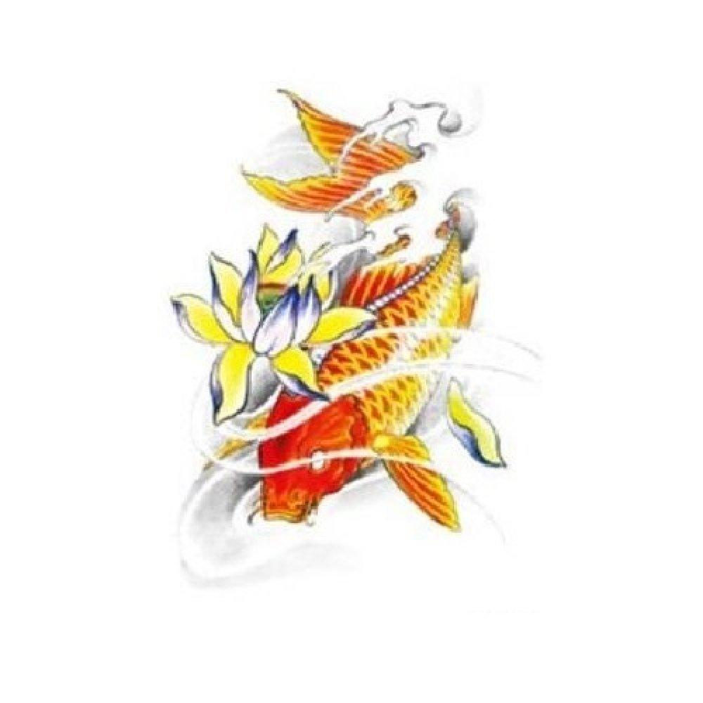 Временна татуировка, японска риба