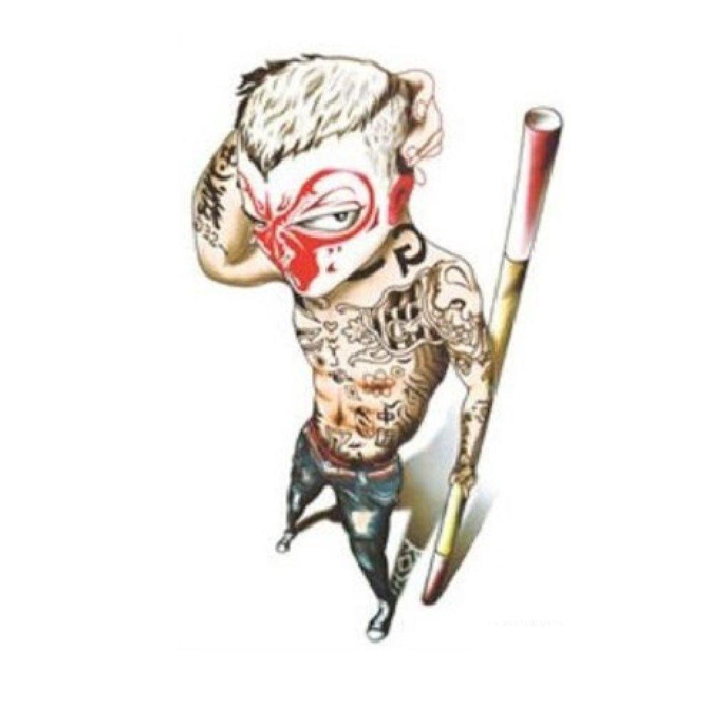 Временна татуировка, зъл боец